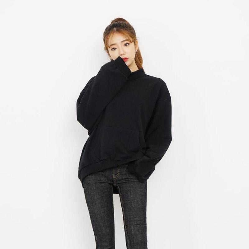 新款韩版chic学生宽松短款外套上衣字母长袖连帽套头卫衣女潮