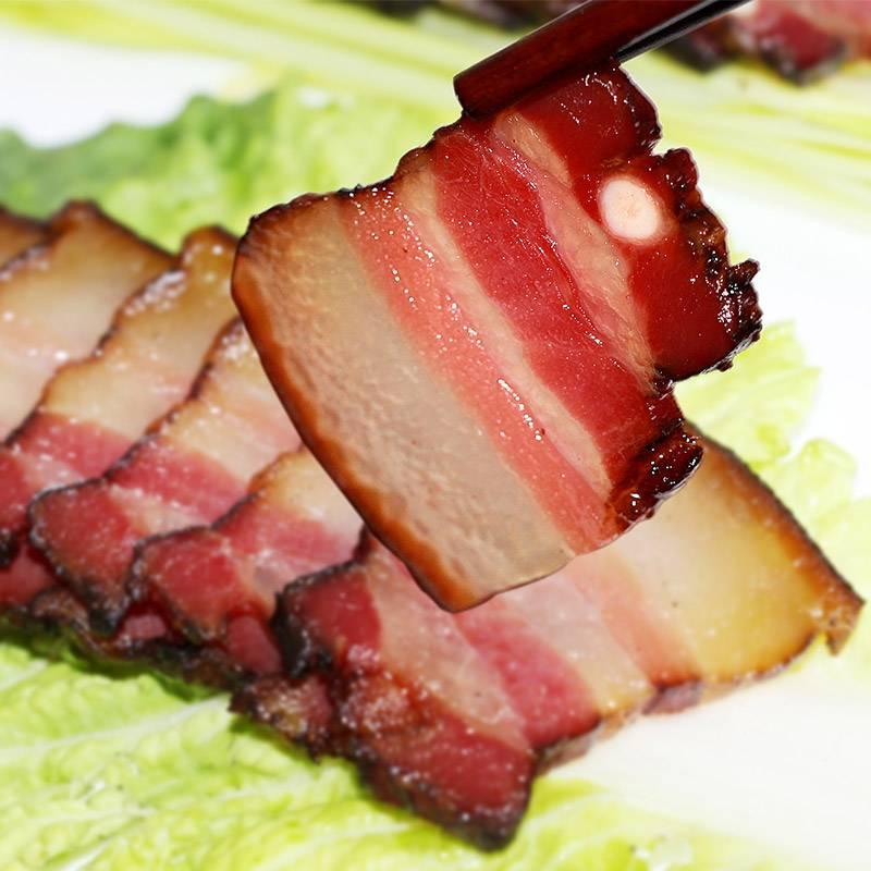 松桂坊湘西五花腊肉250g湖南特产香肠烟熏肉腊肠腊肉 湖南特产 腊肉饭 精选上等猪头